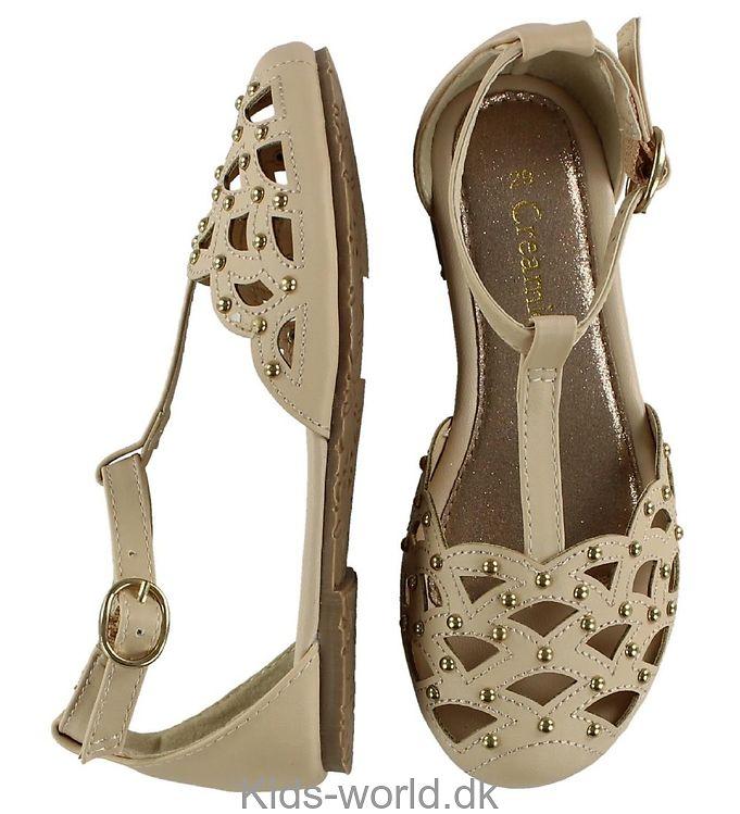 Creamie Sandaler - Beige m. Nitter