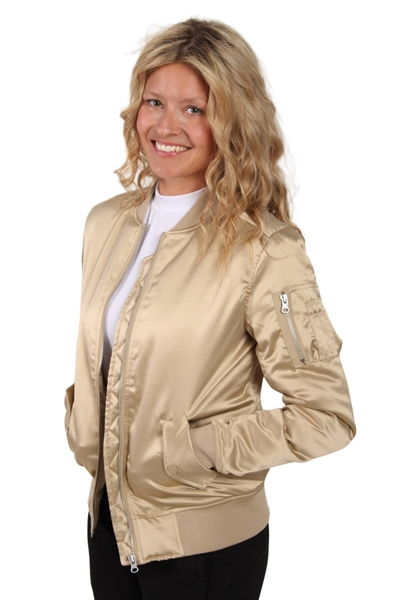 Urban Classics - Jakke - Ladies Satin Bomber Jacket - Gold