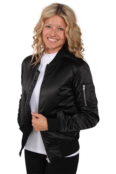 Urban Classics - Jakke - Ladies Satin Bomber Jacket - Black