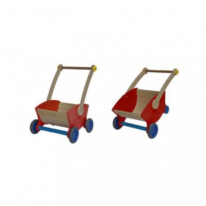 Gåvogn/trillebør (rød/gul/blå)