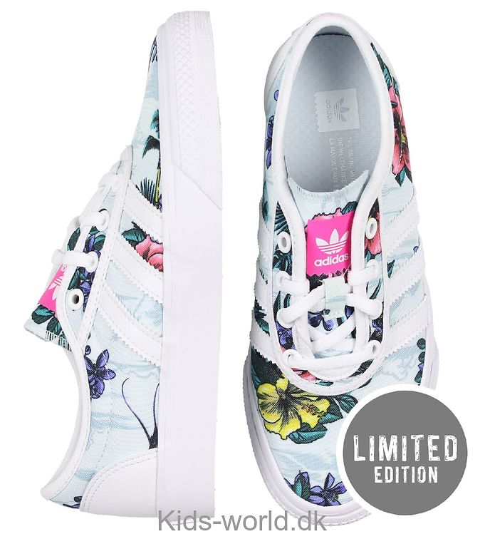 NYT, adidas Originals Sko Adi ease Lyseblå m. Blomster @ tvedel design.dk