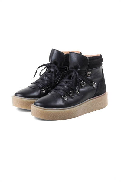 Bianco - Sko - Platform Warm Hiker Boot - Black