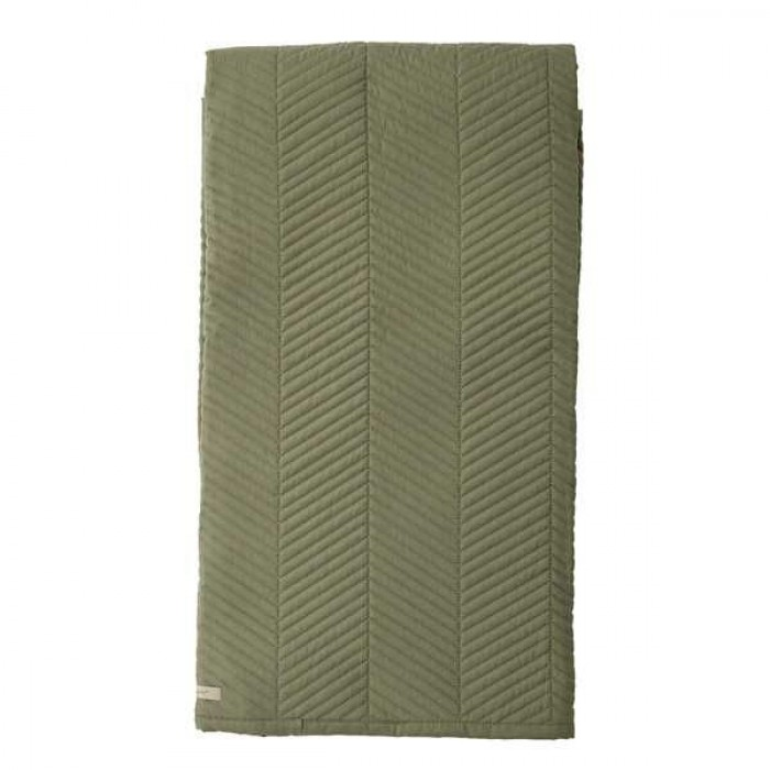 Bloomingville sengetæppe, grøn, polyester
