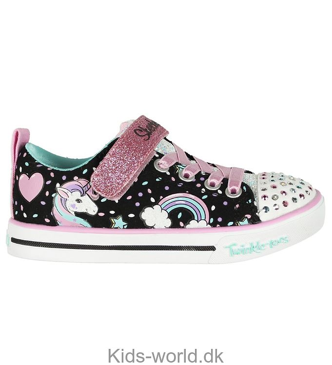 Skechers Sko - Unicorn Craze - Sort m. Glimmer