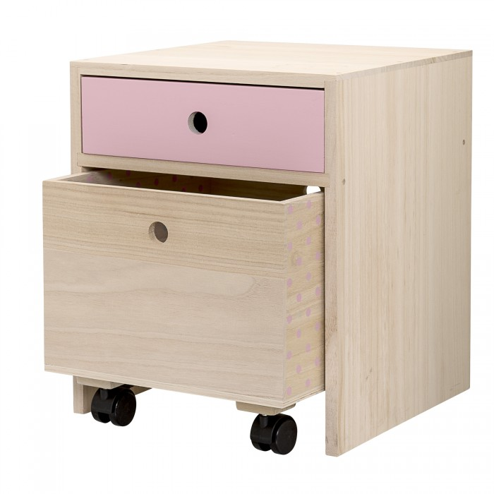 Bloomingville sengebord (rosa)
