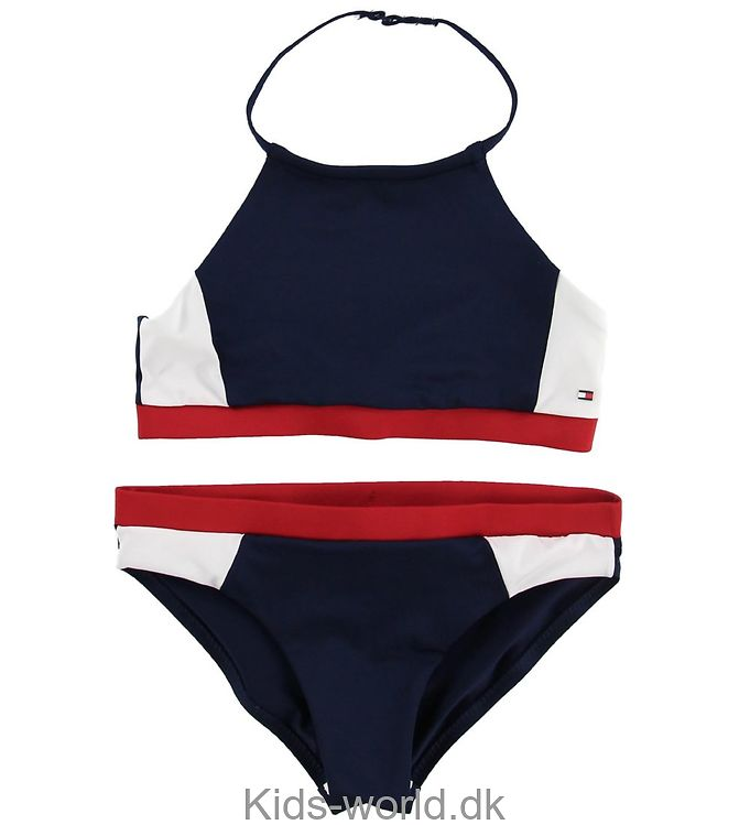 Tommy Hilfiger Bikini - Navy/Rød/Hvid
