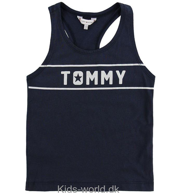 Tommy Hilfiger Tanktop - Navy m. Logo/Glimmer