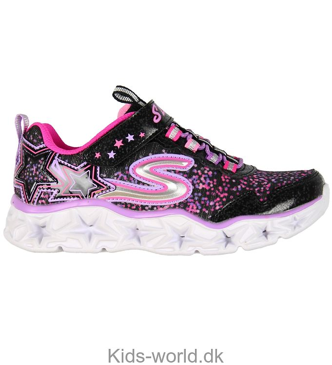 Skechers Sko - Galaxy Lights - Sort/Pink m. Blink