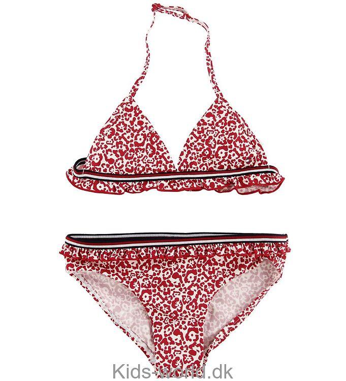 Tommy Hilfiger Bikini - Hvid/Rød m. Mønster