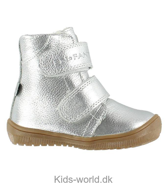 En Fant Vinterstøvler - Tex - Sølv m. Velcro
