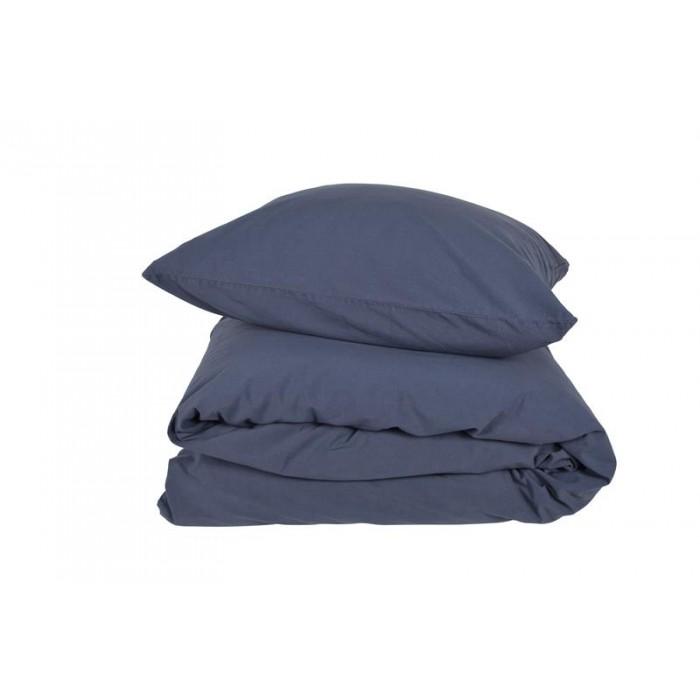 Compliments stone sengesæt sandvasket bomuld blå (140x200/60x63 cm)