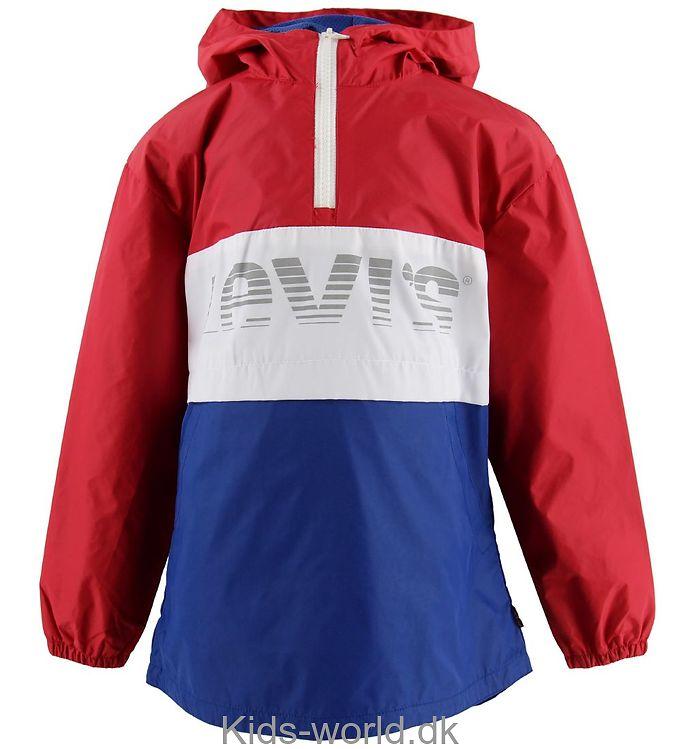 Levis Anorak - Blouson - Rød/Hvid/Blå m. Logo