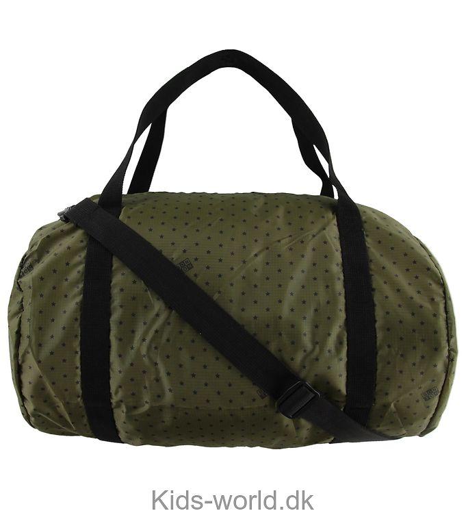 Bonton Sportstaske - Armygrøn m. Stjerner
