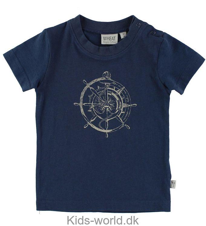 df2d5f390b2e Wheat T-shirt - Blå m. Kompas