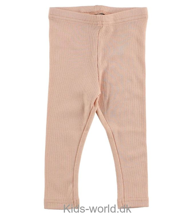 Wheat Leggings - Rib - Coral Pink