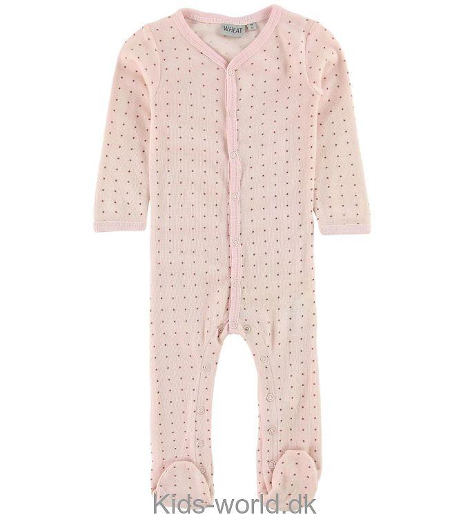 Wheat Heldragt - Baby Pink m. Stjerner