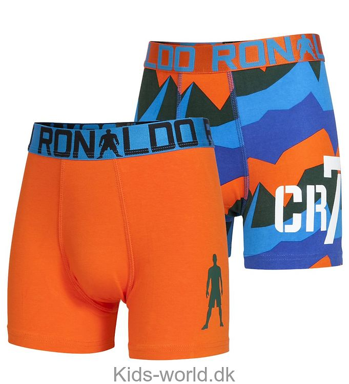Ronaldo 2-Pak Boxershorts - Mønstret/Orange