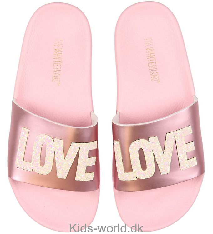 4bc3a8c14b4 The White Brand Badesandaler - Love - Metallic Pink .