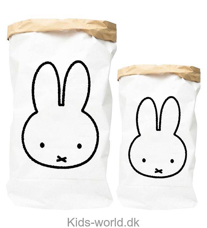 Miffy Papirsæk - 50x70 cm - Hvid m. Kanin