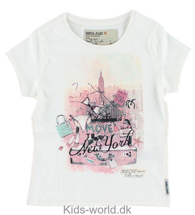 Garcia T-shirt - Creme m. Print