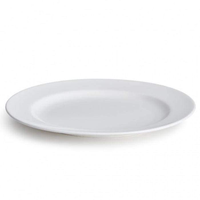Kaolin tallerken (hvid/mellem)