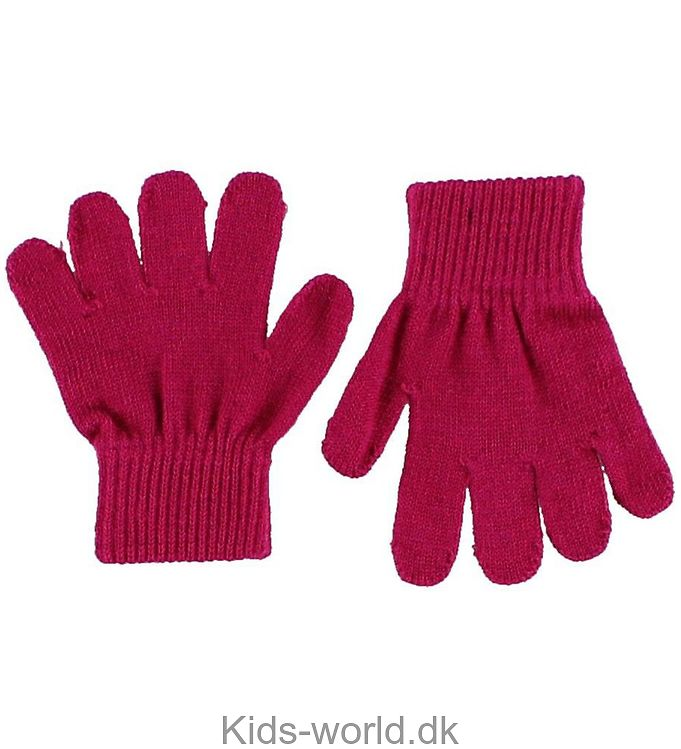 Mikk-Line Strikhandsker - Mørk pink