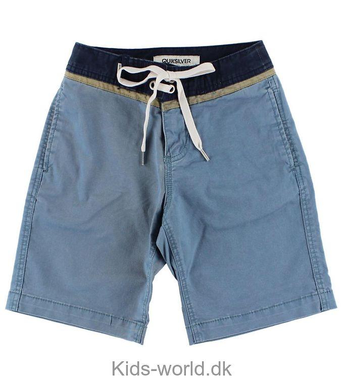 Quiksilver Shorts - Lys blå m. Navy og beige kant