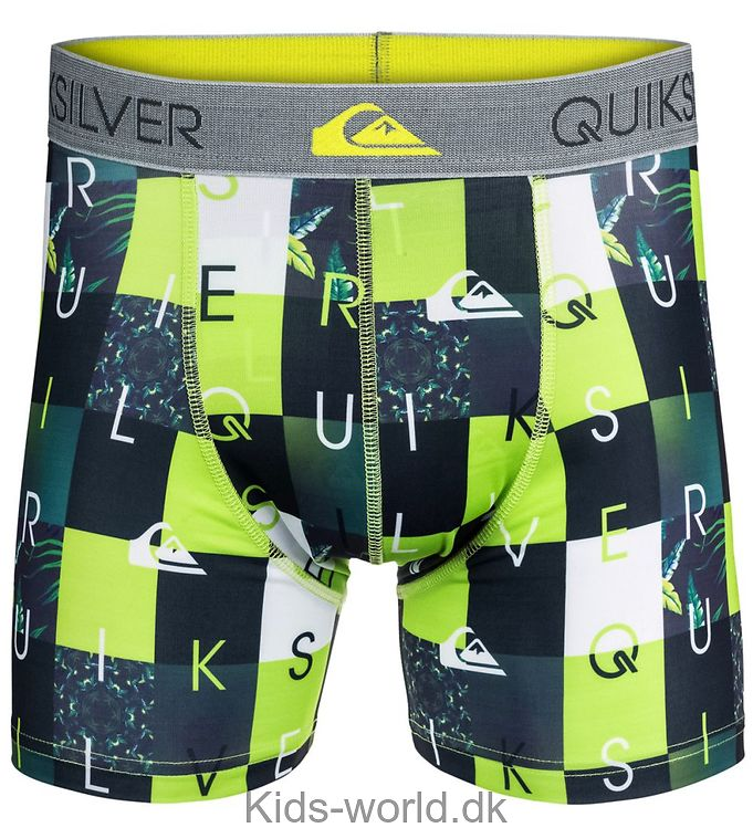 Quiksilver Boxershorts - Grøn/Hvid Tern m. Print