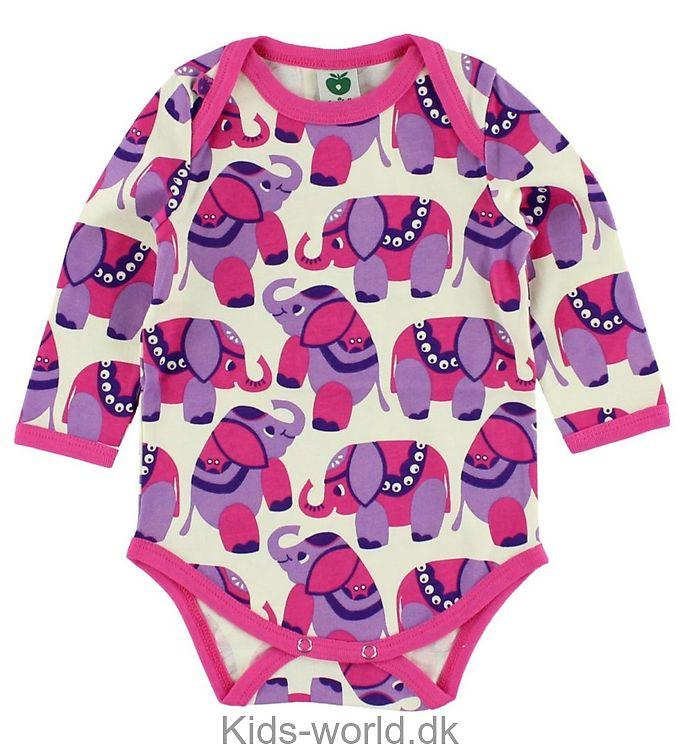 Småfolk l/æ Body - Creme m. Pink/Lavendel elefanter