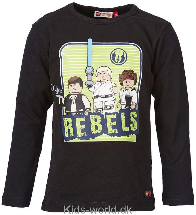 Lego Star Wars Bluse - Sort m. Rebels