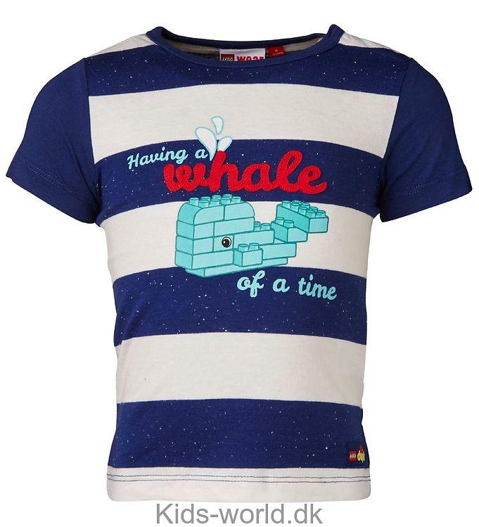Lego Duplo T-shirt - Navy/Hvidstribet m. Print