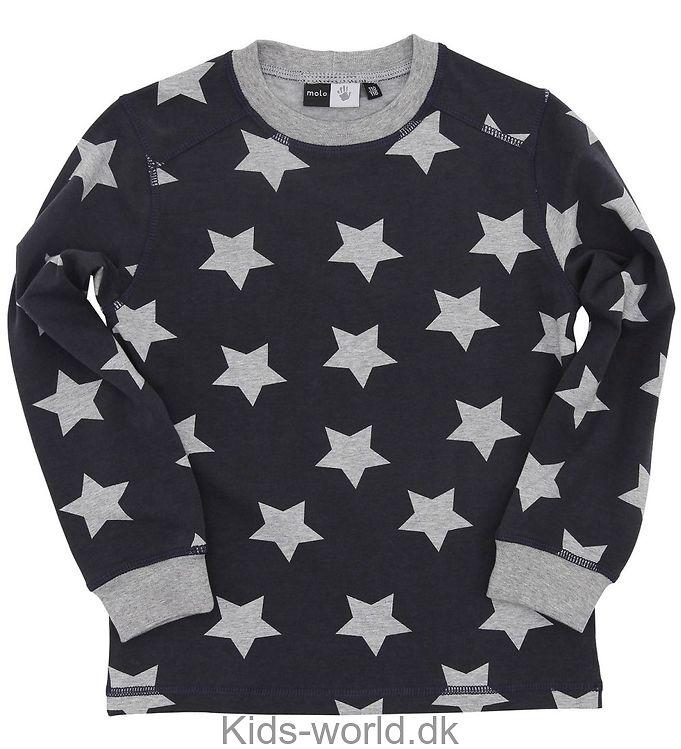 Molo Natbluse - Mørkegrå m. Stjerner