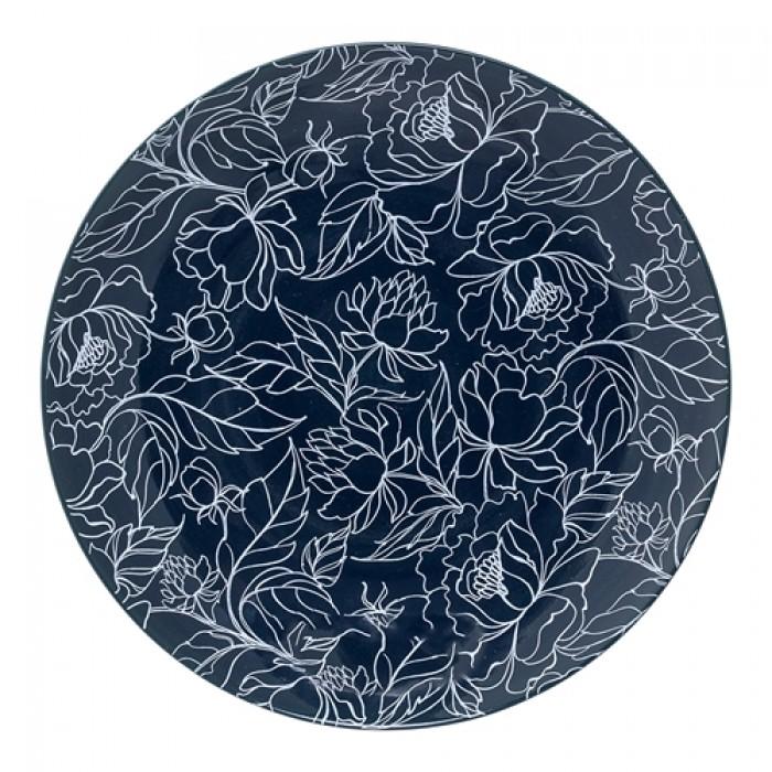 Fleur tallerken (blå)