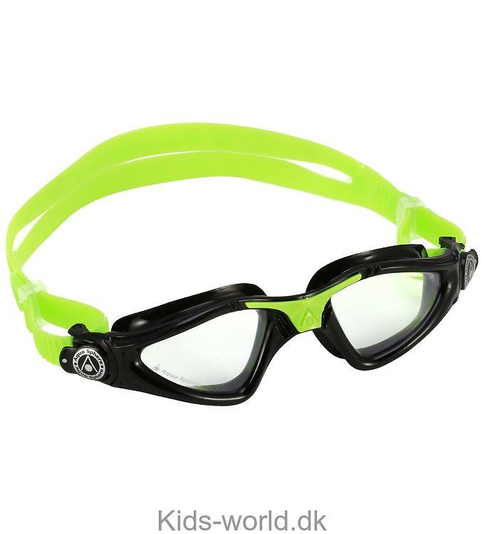 Aqua Sphere Svømmebriller - Kayenne Jr - Sort/Lime