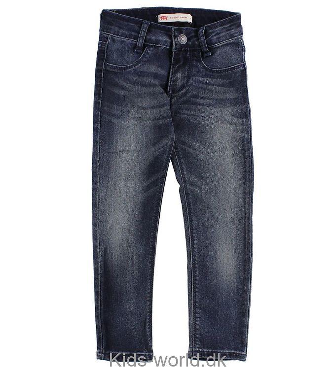 Levis Jeans - 710 - Super Skinny - Blå Denim