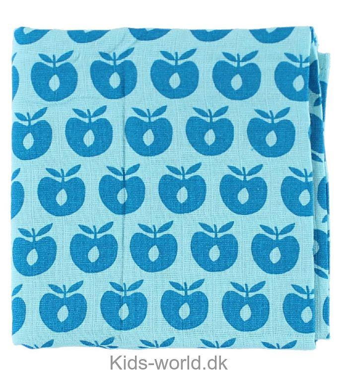 Småfolk Stofble - Lyseblå m. Æbler