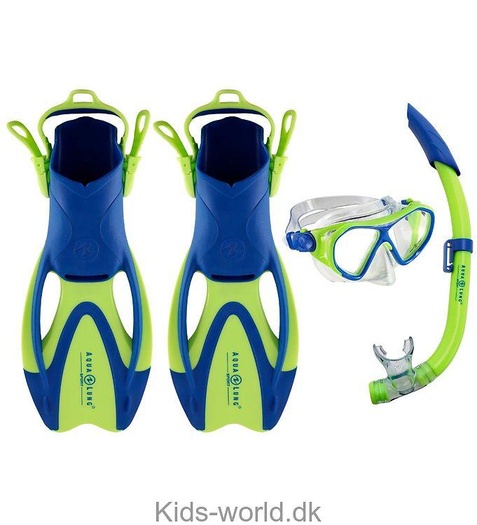 Aqua Lung Dykkersæt - Urchin Jr - Blå/Lime