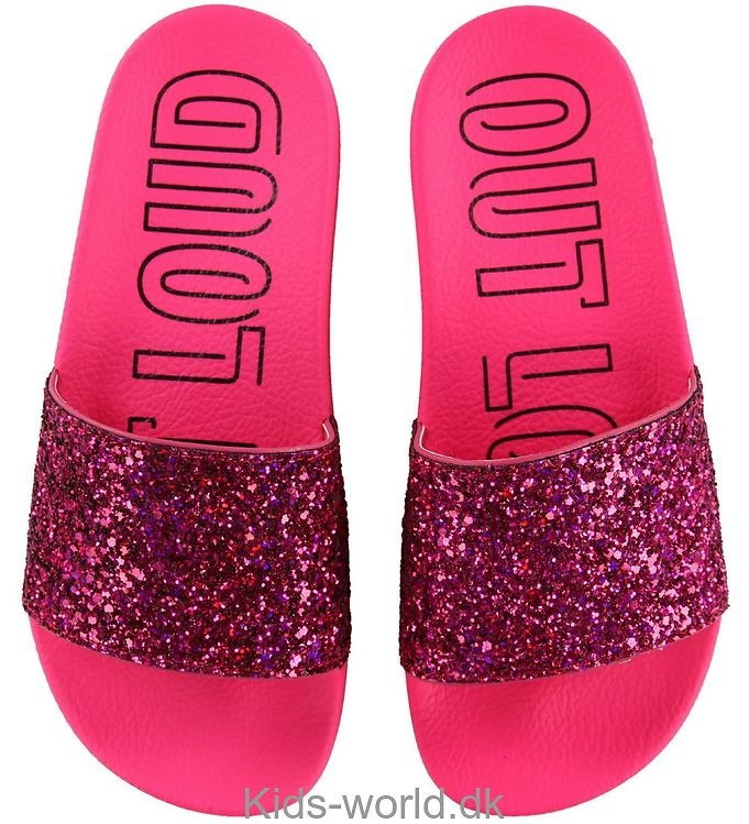 adidas Originals Badesandaler - Adilette - Shock Pink m. Glimmer