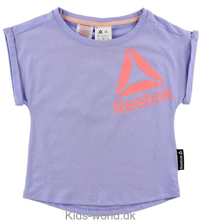 Reebok T-shirt - Lys Lilla m. Logo