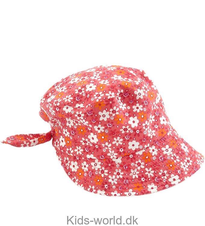 SmallStuff Sommerhat - Rød m. Blomster