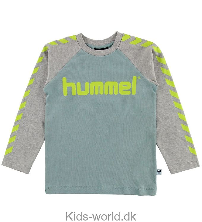 Hummel Bluse - Lukas - Mint/Gråmeleret m. Vinkler