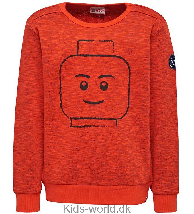 Lego Wear Sweatshirt - Orangemeleret m. Ansigt