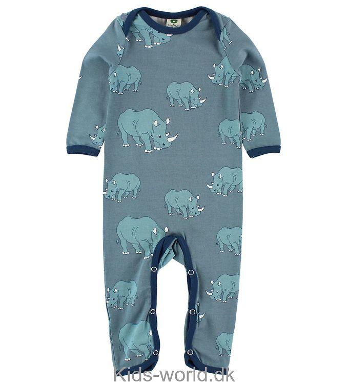 Småfolk Heldragt - Støvet Blå m. Næsehorn