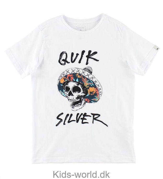 Quiksilver T-shirt - Hvid m. Kranie