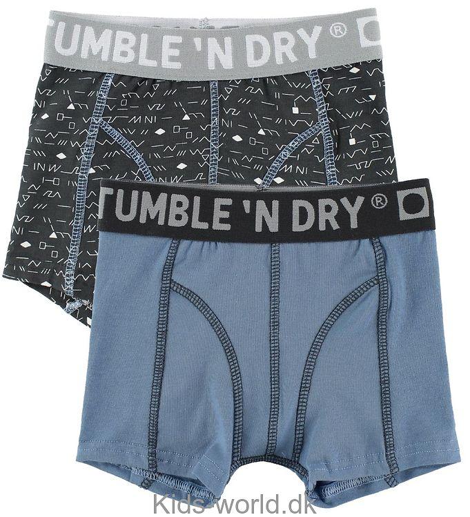Tumble 'N Dry Boxershorts - 2-pak - Grå/Blå