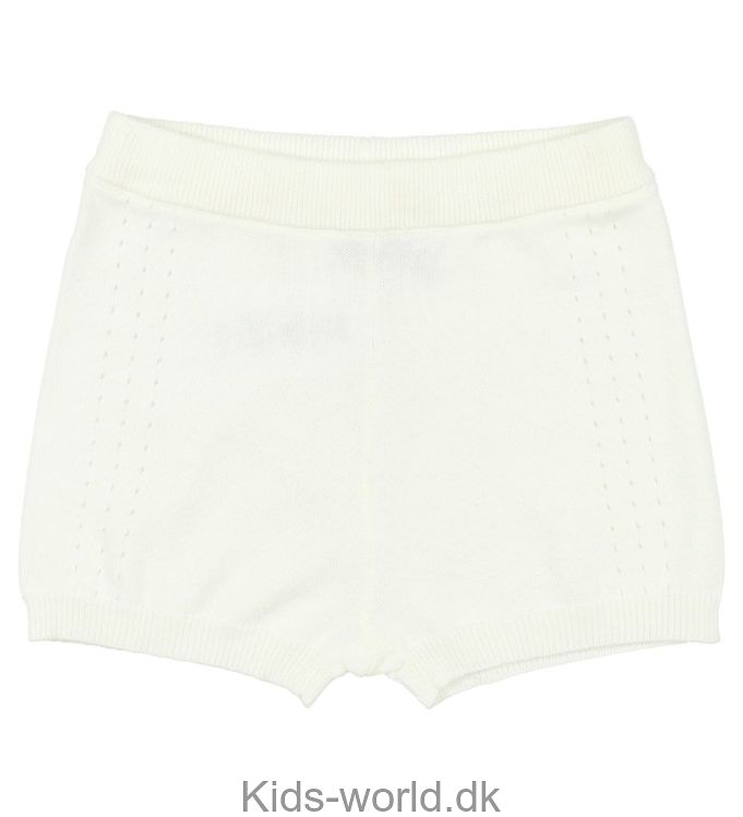 Wheat Shorts - Strik - Creme m. Hulmønster