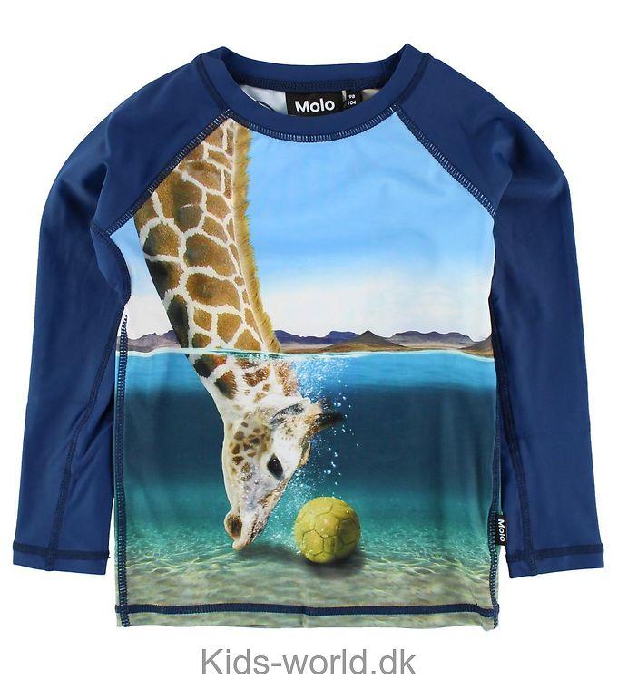 Molo Badebluse l/æ - UV50+ - Neptune Long - Giraffe