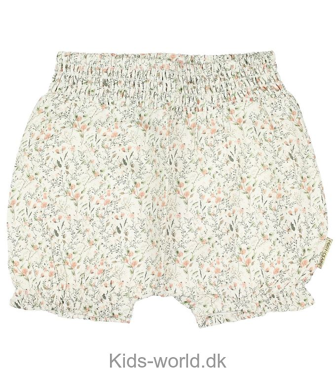 Hust and Claire Shorts - Creme m. Blomster