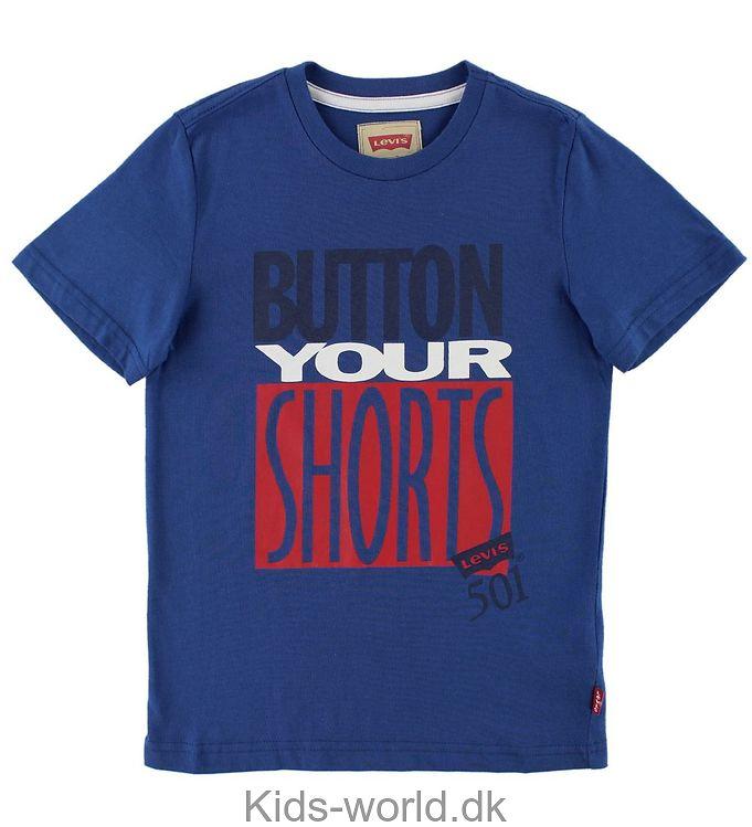 Levis T-shirt - Blå m. Tekst