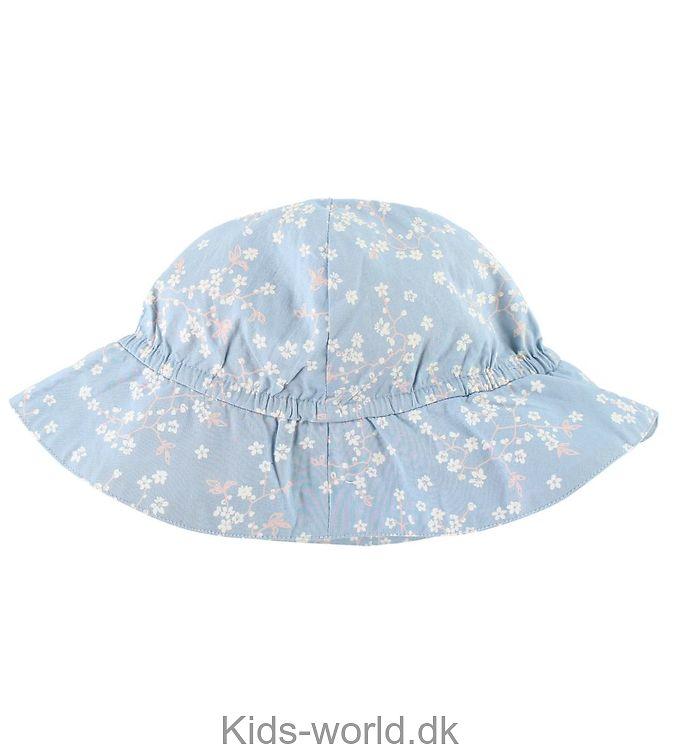 Noa Noa Miniature Sommerhat - Lyseblå m. Blomster